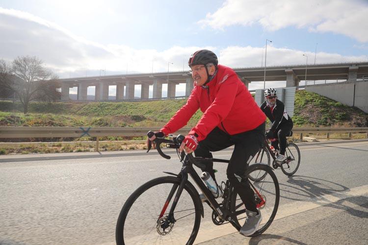 Murat Aydın Beykoz'da 33 km pedal çevirdi