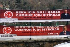 Beykoz'daki pankart Türkiye gündemine oturdu