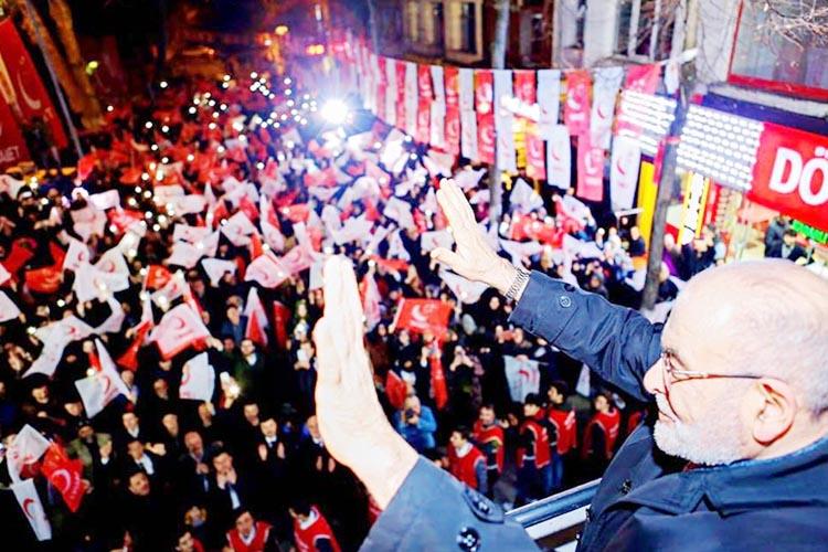 Saadet Partisi Beykoz mitingi dikkat çekti