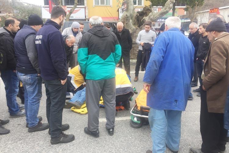 Beykoz Dedeoğlu'nda trafik kazası... Bir yaralı