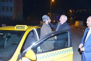 Beykoz taksicisine Coşkun Tosun sürprizi