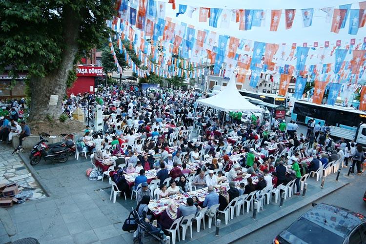 Beykoz'da ilk iftar şehit aileleri ve gaziler için