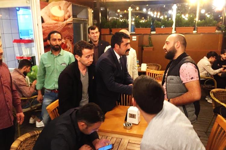 MHP Rize İl Başkanı Beykoz'da çalışıyor