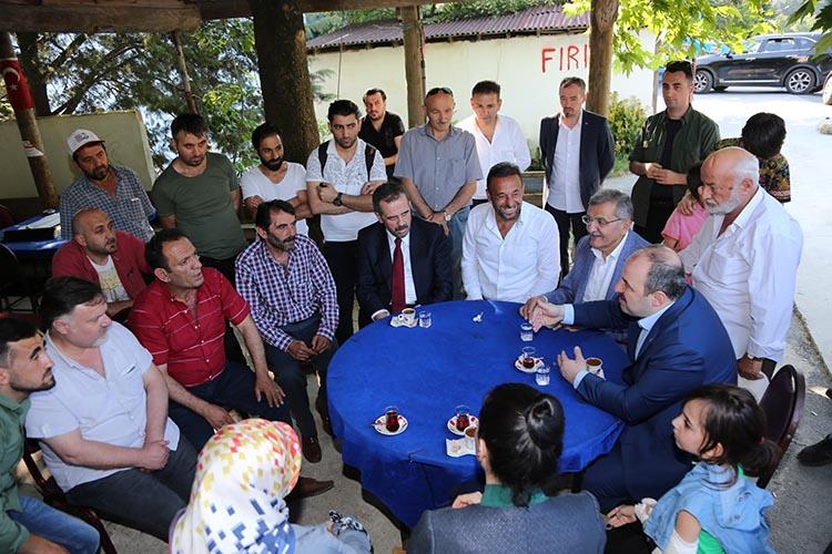 Beykoz'daki küçük Trabzon'a Bakan ziyareti
