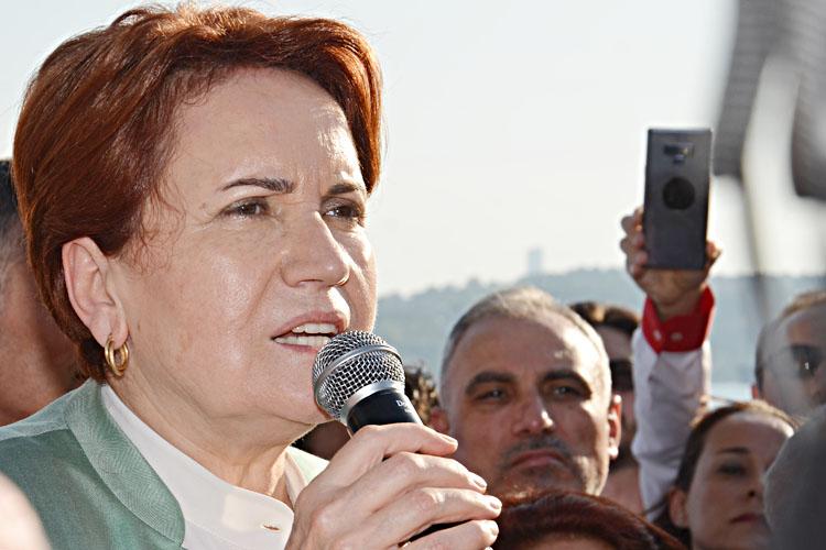 Akşener, Beykoz'da İmamoğlu'na destek istedi