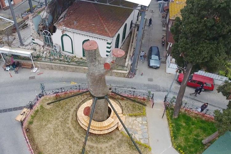Beykoz'daki tarihi caminin onarımı başladı