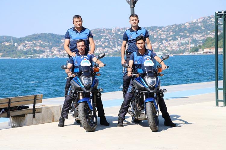 Beykoz'da bisikletten sonra motorize ekip