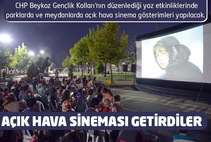 Beykoz'a açık hava sineması getirdiler