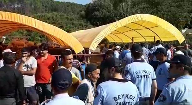 Beykoz Kurbankent'te çadır gerginliği