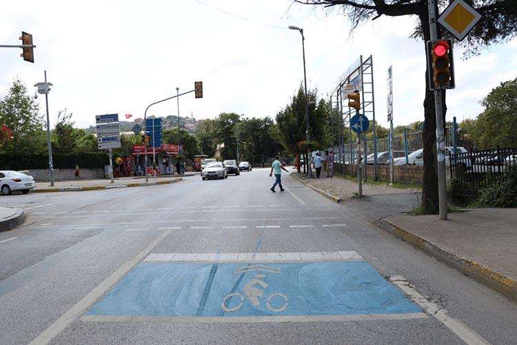 Beykoz yollarında mavi bekleme alanları