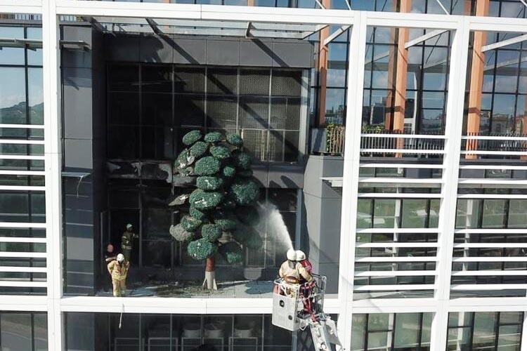 Beykoz Medipol Üniversitesi'nde küçük çaplı yangın