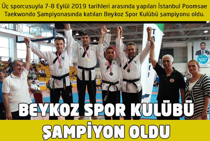 Beykoz Spor Kulübü Taekwondo da şampiyon oldu