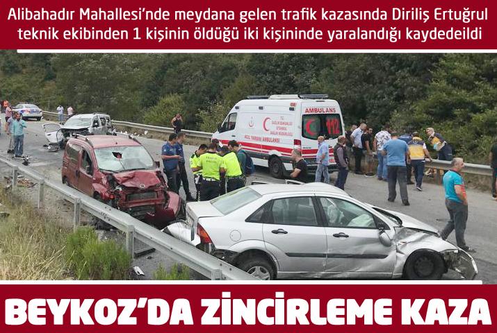 Beykoz Alibahadır'da feci kaza: 1 ölü, 2 yaralı