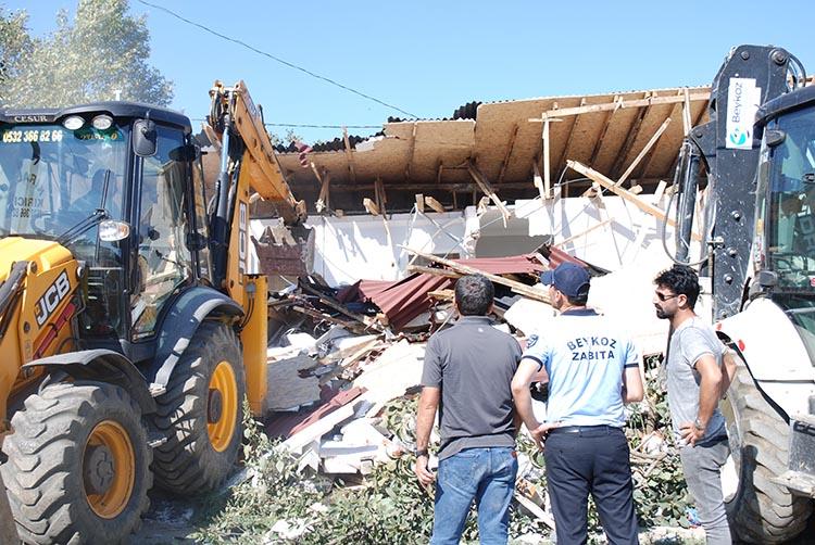 Beykoz Belediyesi'nden kaçak yapı yıkım ihalesi