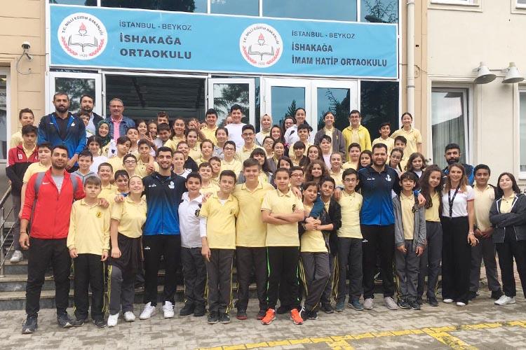 Beykoz Belediyespor'dan İshakağa'ya ziyaret