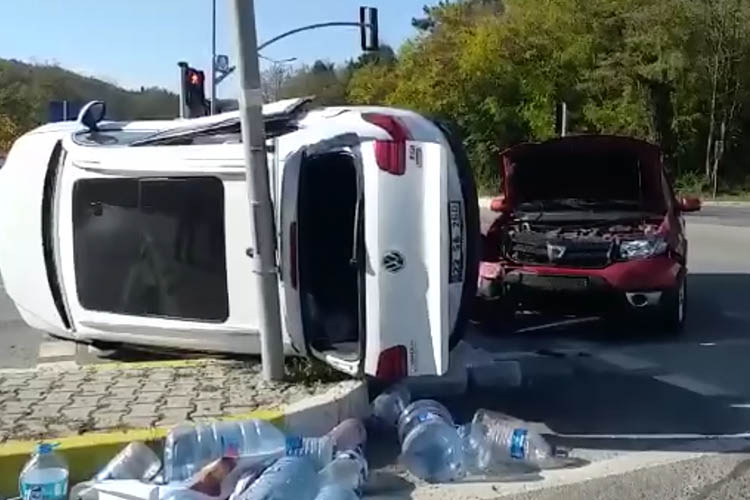 Beykoz Elmalı'da kaza 1 yaralı