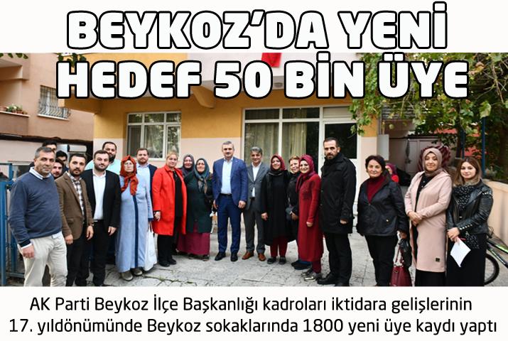 AK Parti Beykoz'da 50 bin üye hedefliyor