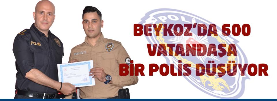 Beykoz'da 600 vatandaşa bir polis düşüyor