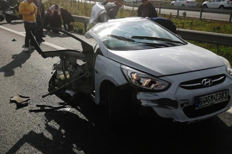 Beykoz'da parçalanan arabada bir kişi öldü