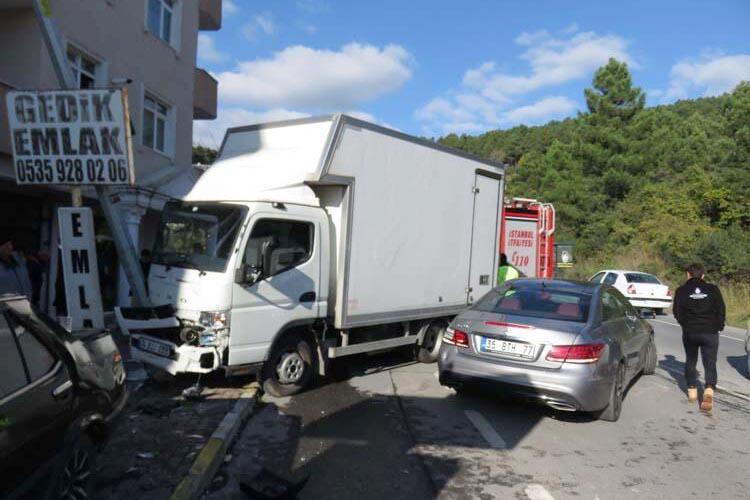 Çavuşbaşı Fatih Mahallesi'nde trafik kazası