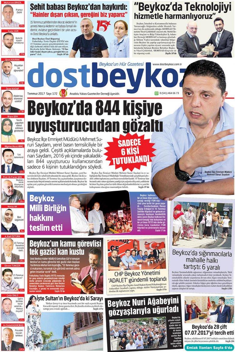 Dost Beykoz Gazetesi Temmuz 2017... 172. Sayı