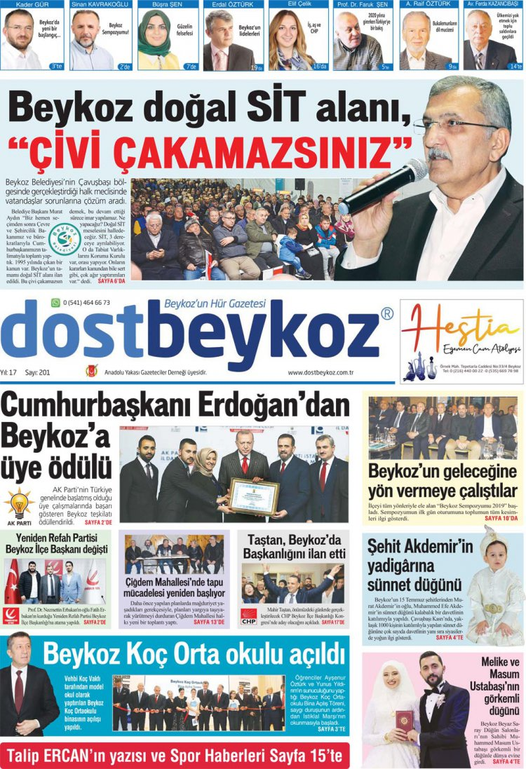 Dost Beykoz Gazetesi Aralık 2019... 201. Sayı