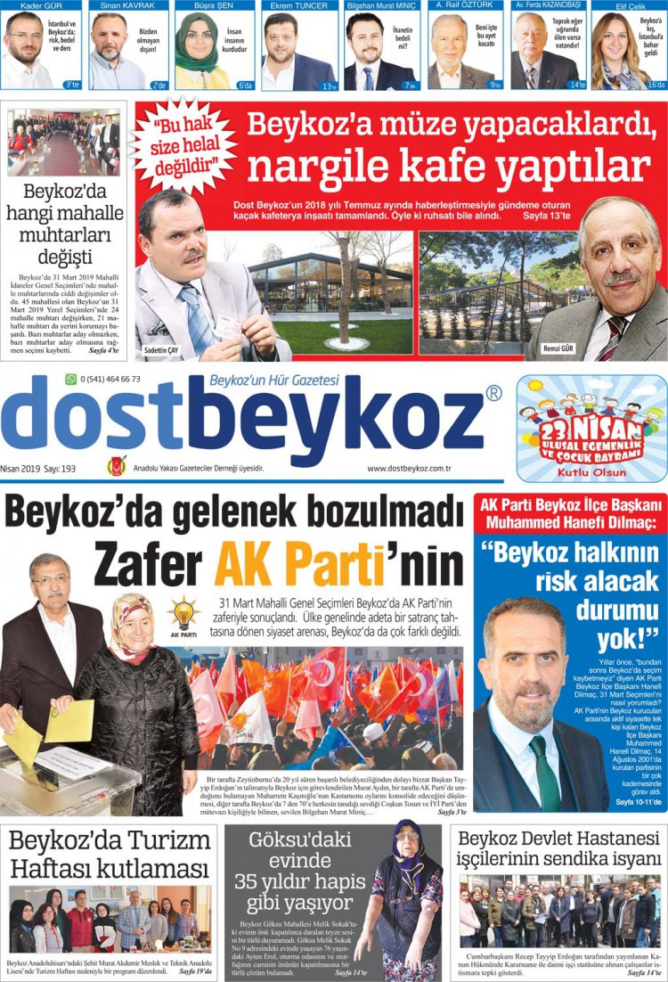 Dost Beykoz Gazetesi Nisan 2019... 193. Sayı