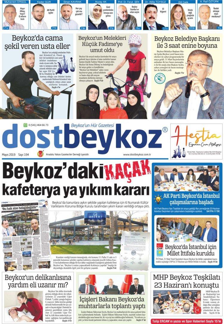 Dost Beykoz Gazetesi Mayıs 2019... 194. Sayı