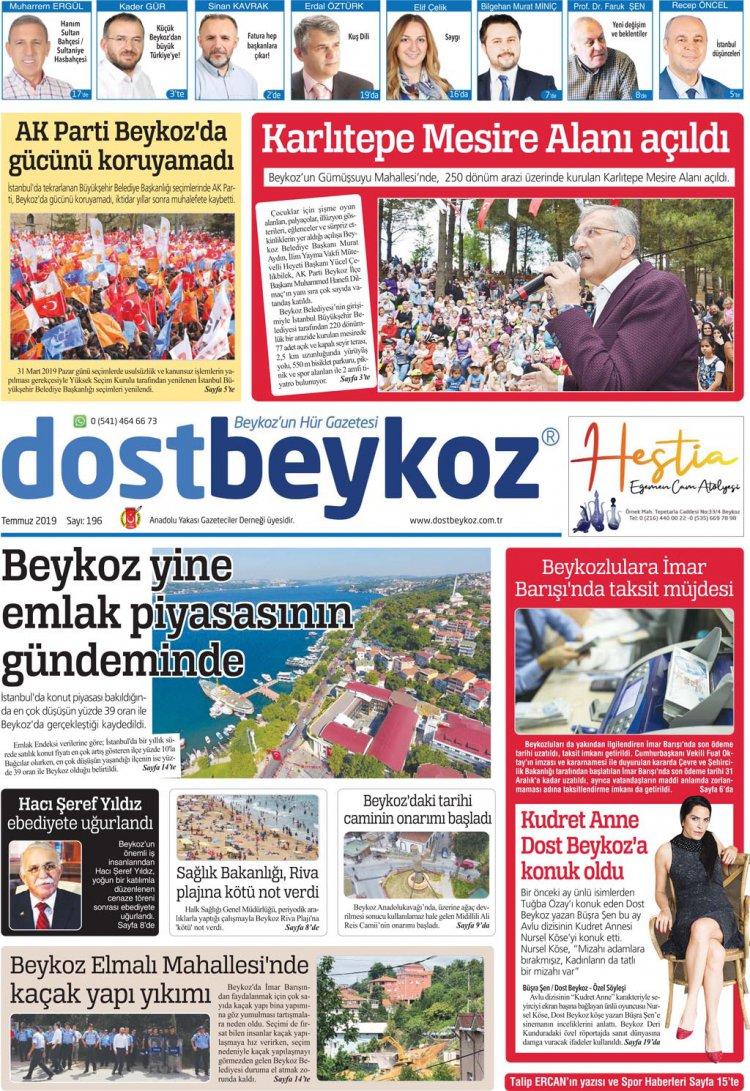Dost Beykoz Gazetesi Temmuz 2019... 196. Sayı