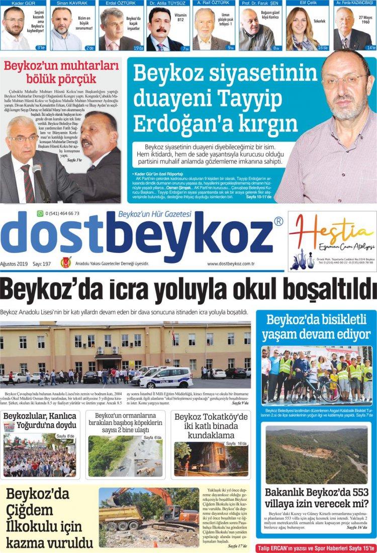 Dost Beykoz Gazetesi Ağustos 2019... 197. Sayı