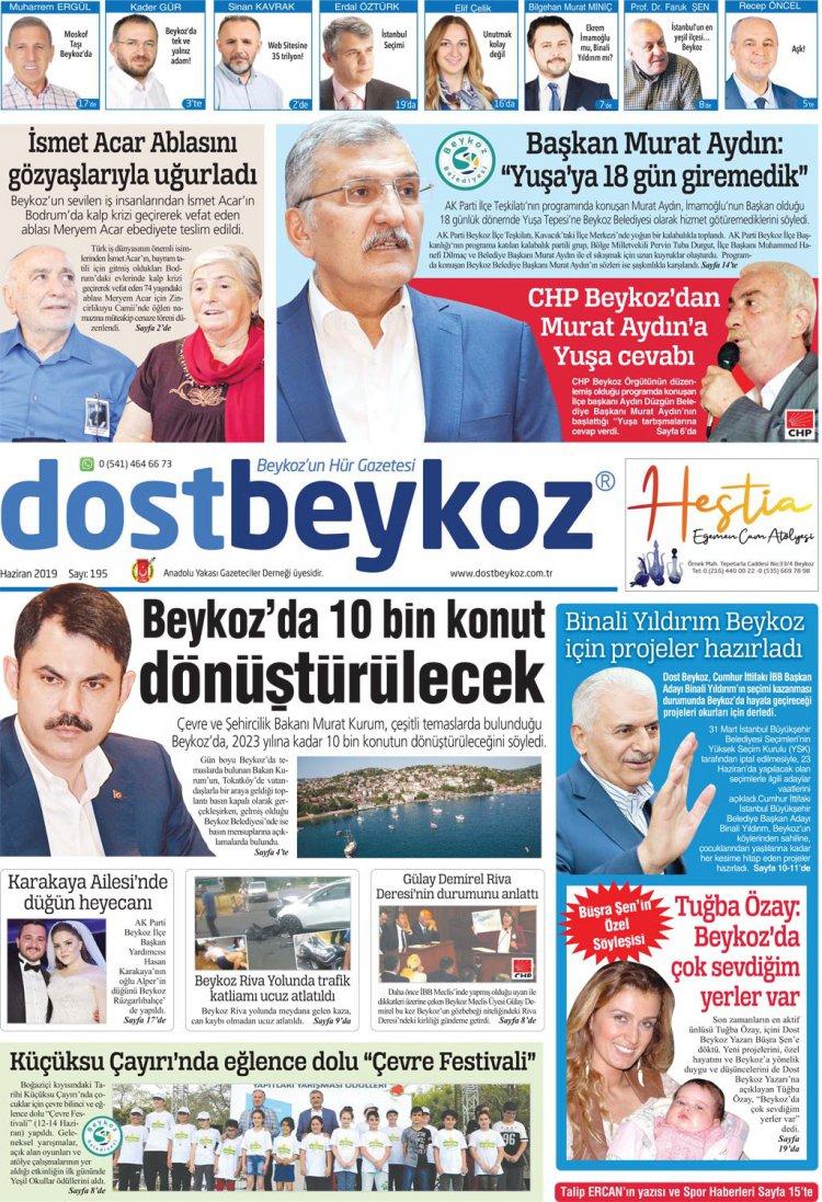 Dost Beykoz Gazetesi Haziran 2019... 195. Sayı