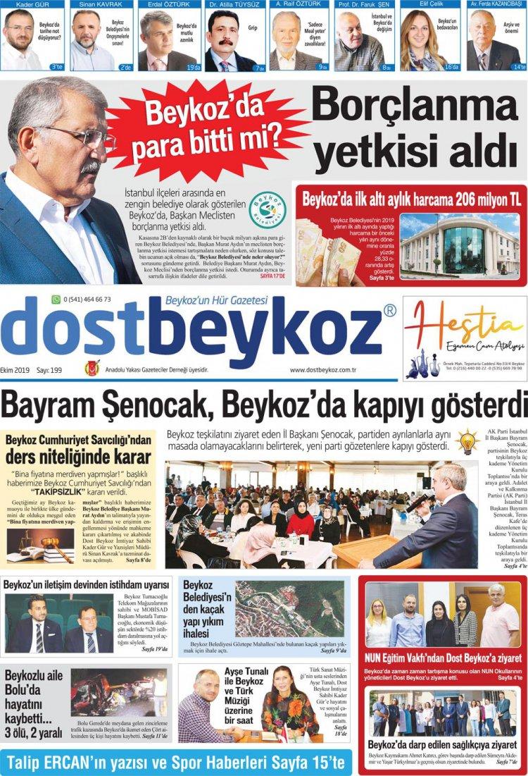 Dost Beykoz Gazetesi Ekim 2019... 199. Sayı