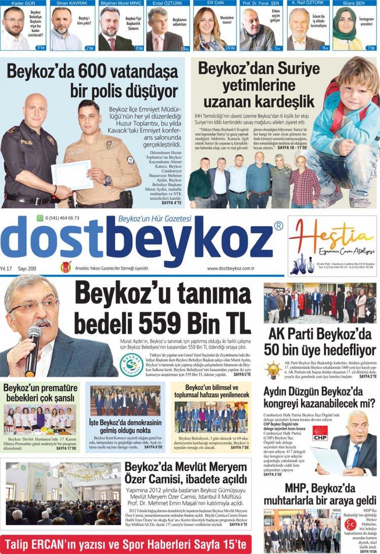 Dost Beykoz Gazetesi Kasım 2019... 200. Sayı