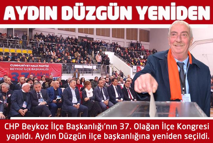 CHP Beykoz İlçe Başkanlık Kongresi'ni Aydın Düzgün kazandı