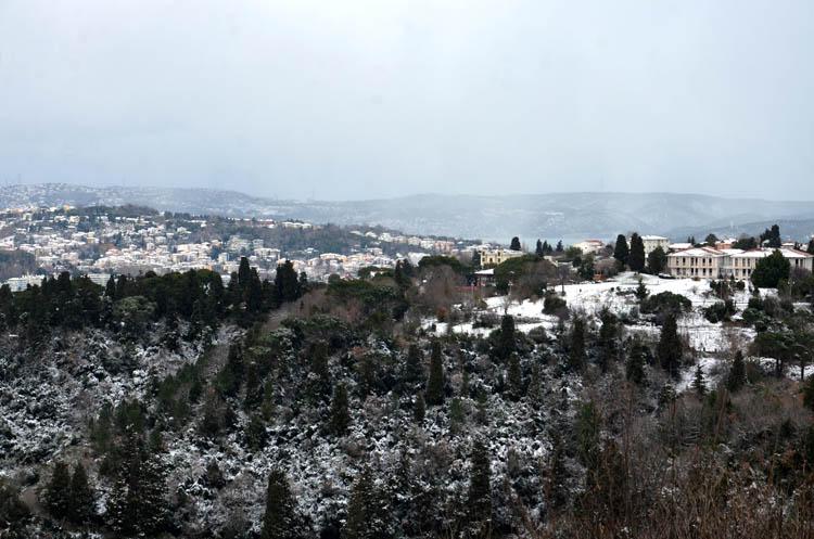 Beykoz'un dört bir yanından kar manzaraları