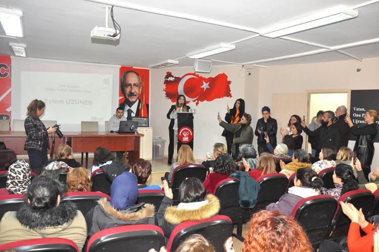 CHP Beykoz Kadınlarında eylem heyecanı