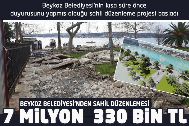 Beykoz Belediyesi'nden ateş pahası sahil düzenlemesi