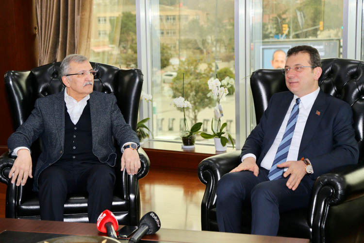Ekrem İmamoğlu'ndan Beykoz Belediyesi ziyareti
