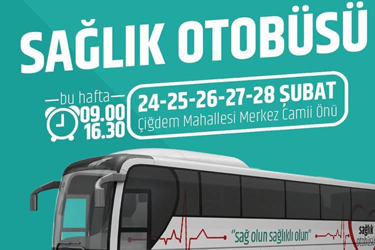 Beykozlunun sağlık otobüsü Çiğdem Mahallesi'nde