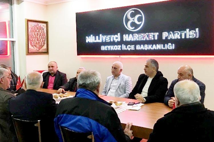 Beykoz Kulüpler Birliğinden MHP teşkilatına ziyaret
