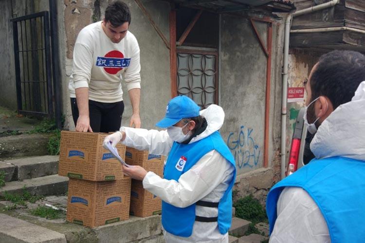 Beşir Derneği Beykoz Şubesi'nden 3 aylık destek paketi