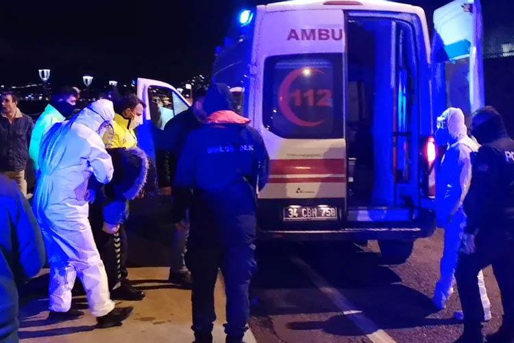 Sağlıkçının aracı Beykoz'da denize uçtu