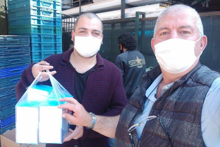 Beykoz amatörlerine maske desteği