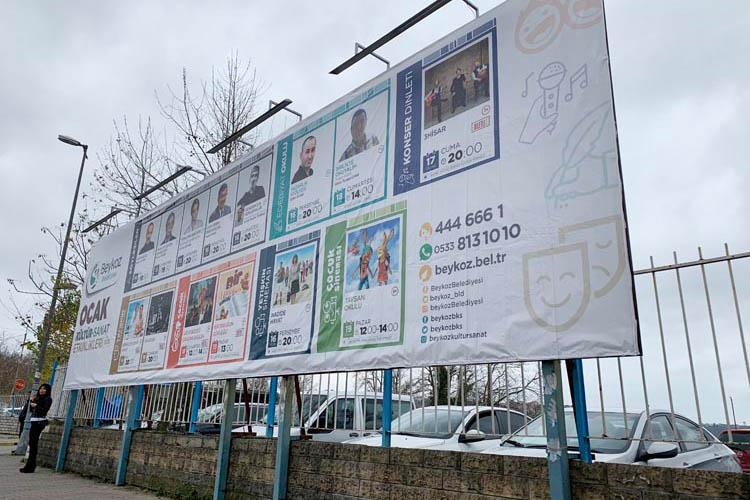 Beykoz'da reklam panoları da kiralanmaya başlandı