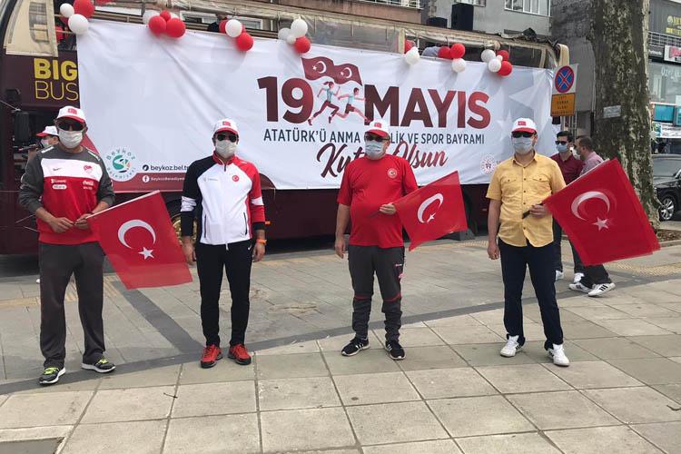 Beykoz'da koronavirüs gölgesinde 19 Mayıs kutlamaları