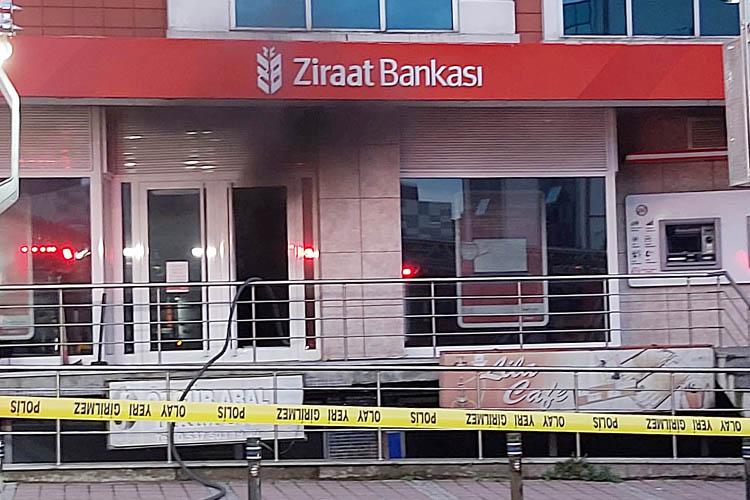 Beykoz'da Ziraat Bankası şubesinde yangın çıktı