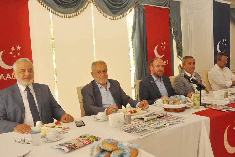 Saadet Partisi Beykoz, yerel basınla buluştu