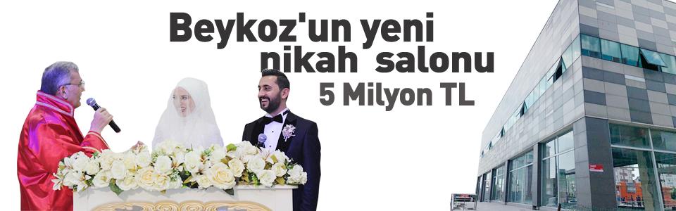 Beykoz'un yeni nikah salonunun maliyeti 5 milyon TL