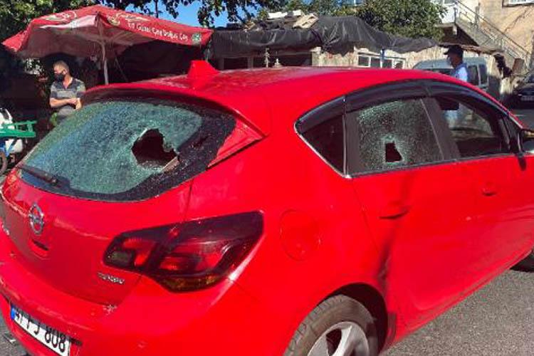 Beykoz'daki trafik kazasında silahlar çekildi