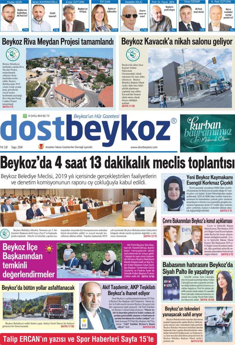 Dost Beykoz Gazetesi Temmuz 2020... 204. Sayı